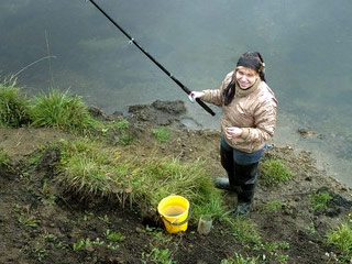 Девушка-рыболов