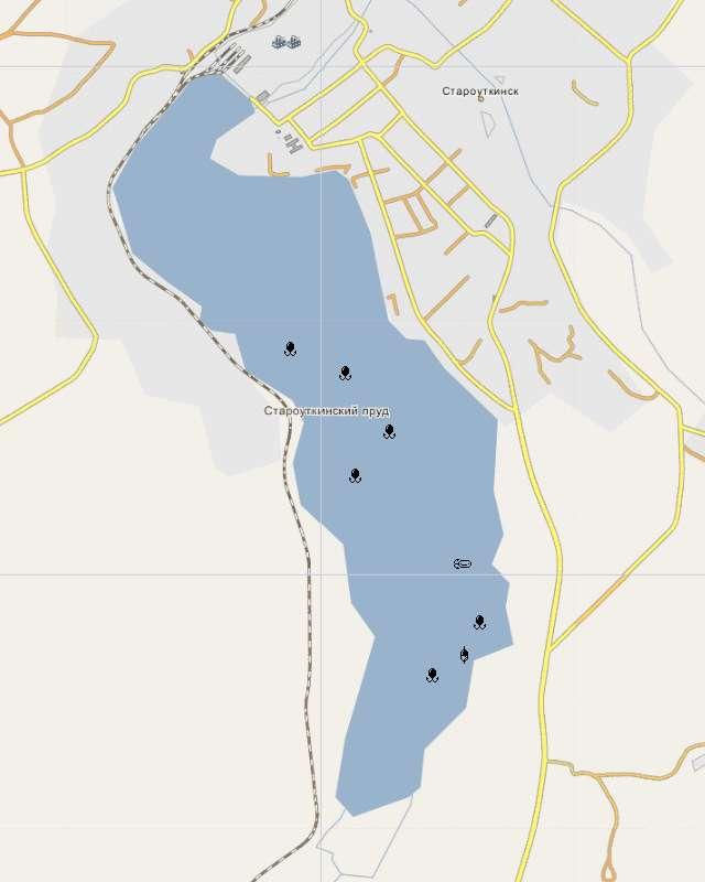 Староуткинский пруд- карта