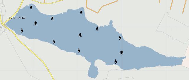 Пильнинский пруд- карта