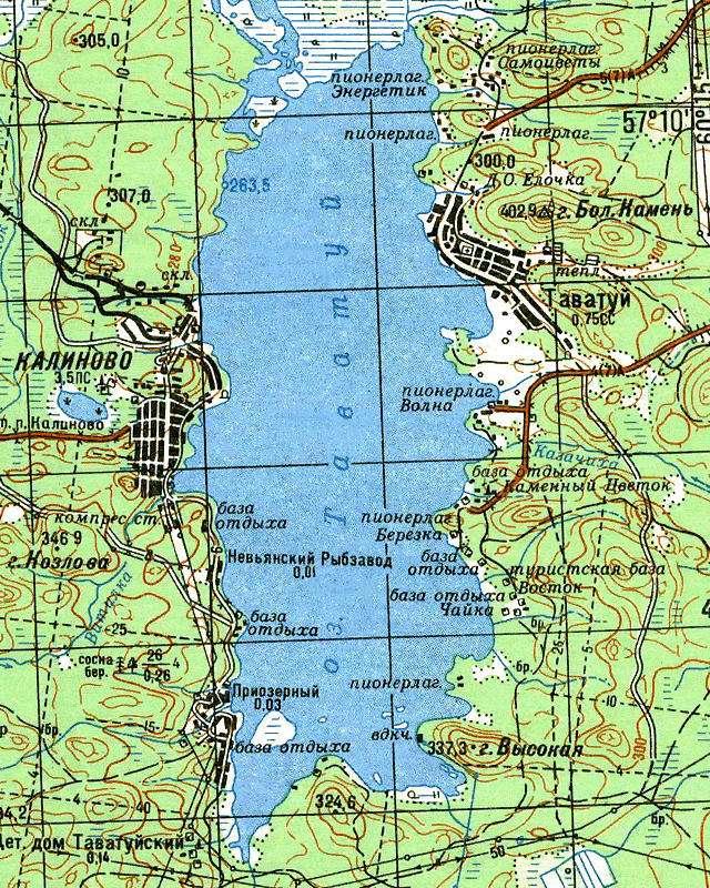 Таватуй- карта