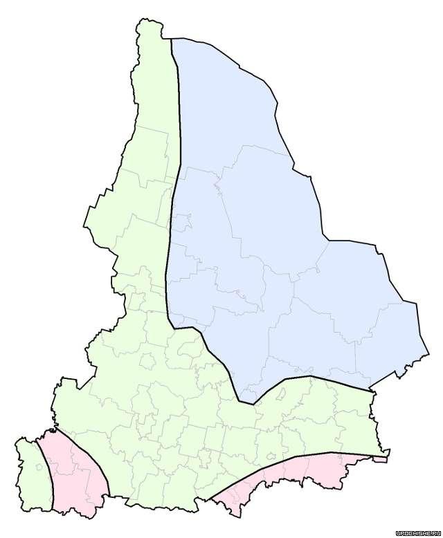 Карта грибных мест Свердловской области