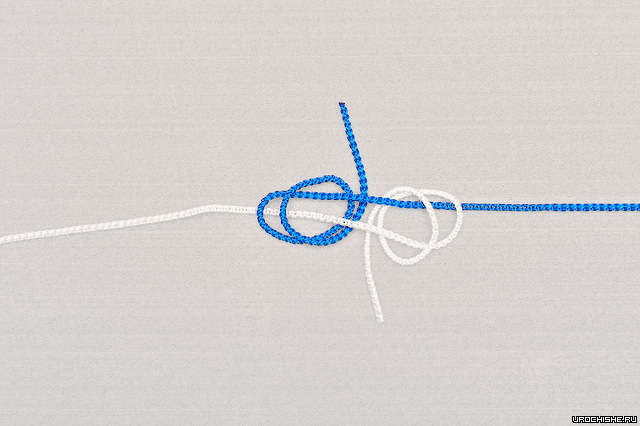 Двойной рыбацкий узел- вторые витки