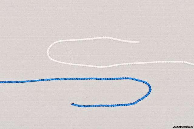 Фламандский узел- начало вязания