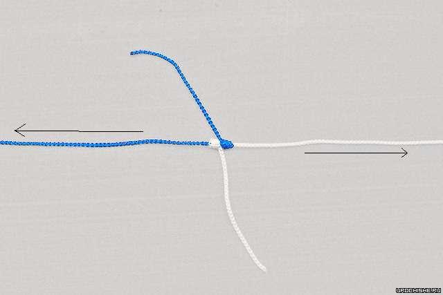Змеиный узел- затягиваем