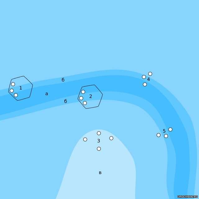 схема облова затопленного русла
