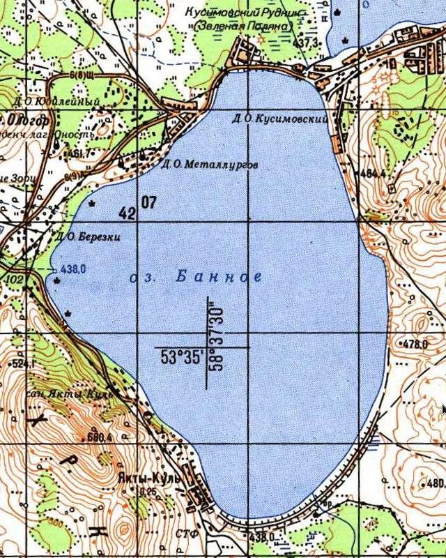 Банное- карта