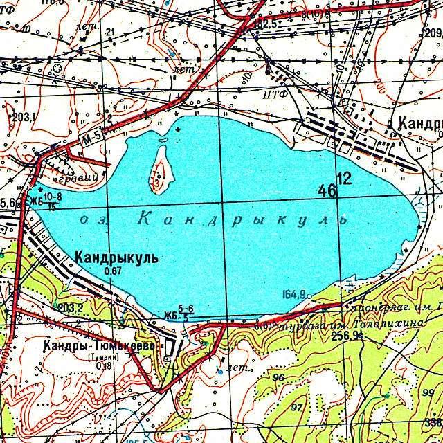 Кандрыкуль- карта