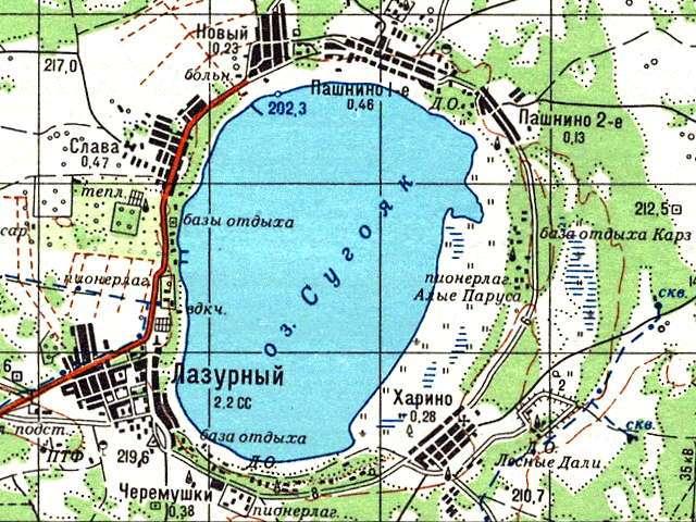 Сугояк- карта