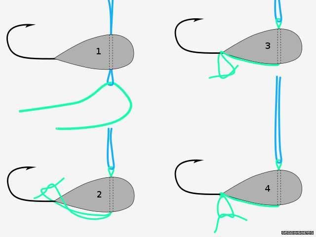 как привязать вольфрамовую мормышку