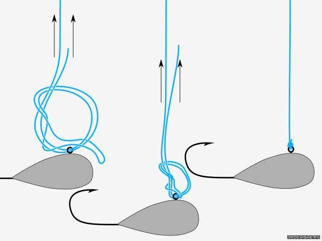 """как привязать мормышку- узел """"palomar"""""""