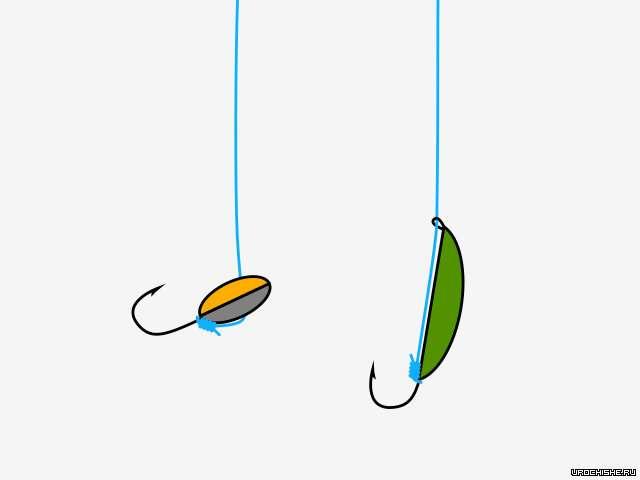 Как правильно привязать на зимнюю удочку две мормышки