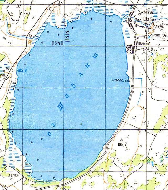 Шаблиш- карта