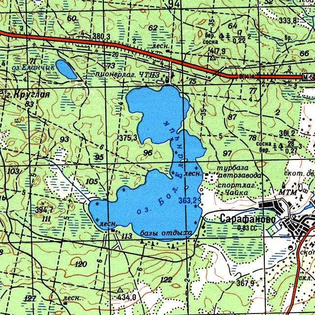Большой Еланчик- карта