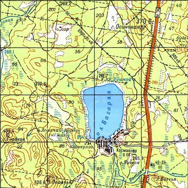 Багаряк- карта