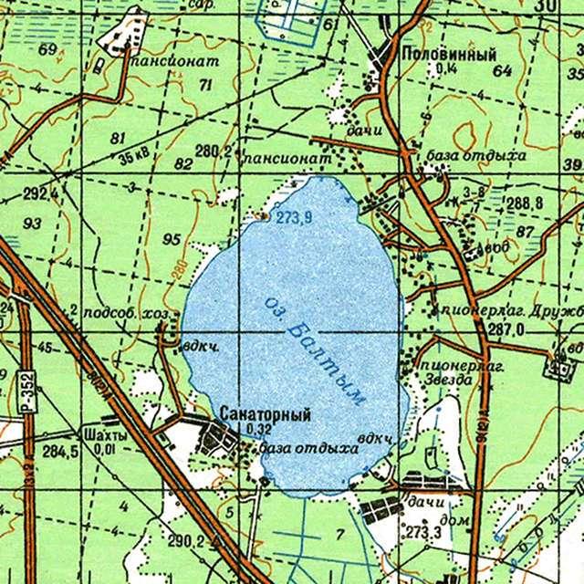 Балтым- карта