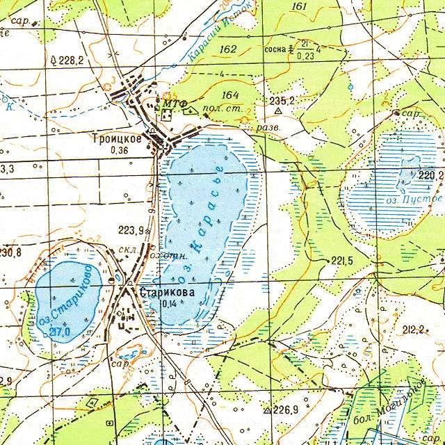 Карасье- карта