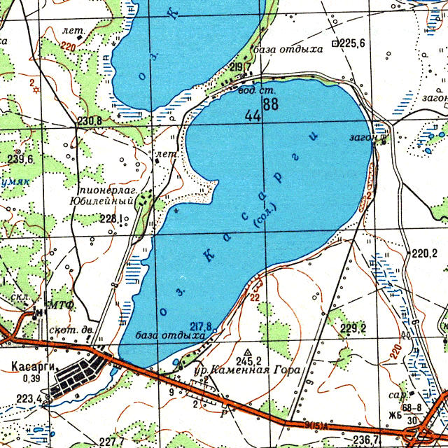 Касарги- карта