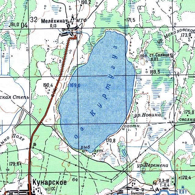 Куртугуз- карта