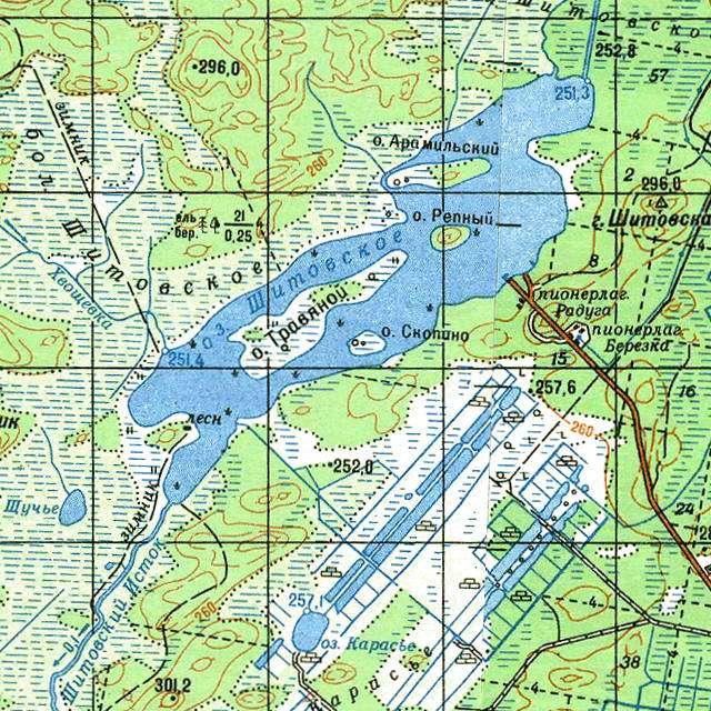 Шитовское- карта