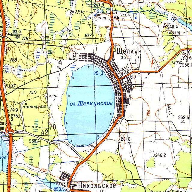 Щелкунское- карта