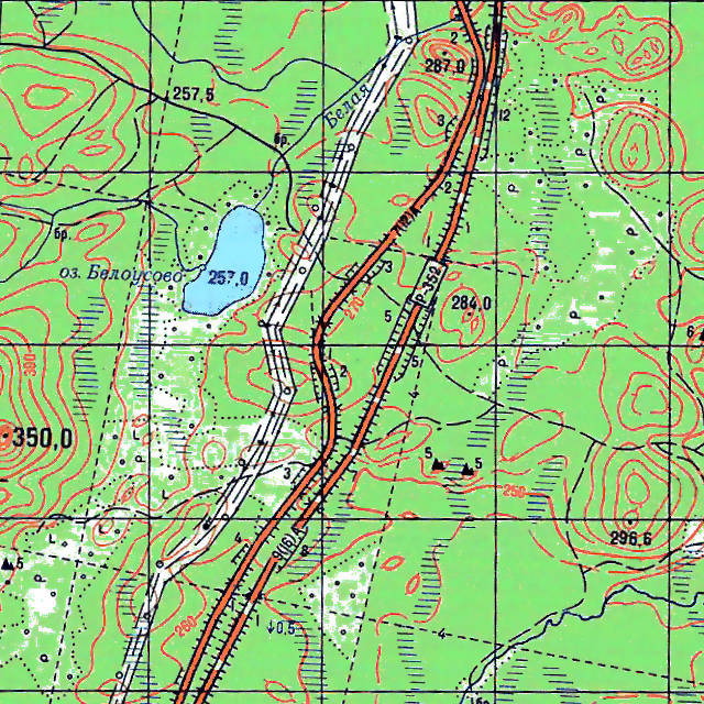 Белоусово- карта