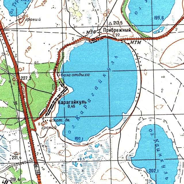 Карагайкуль- карта