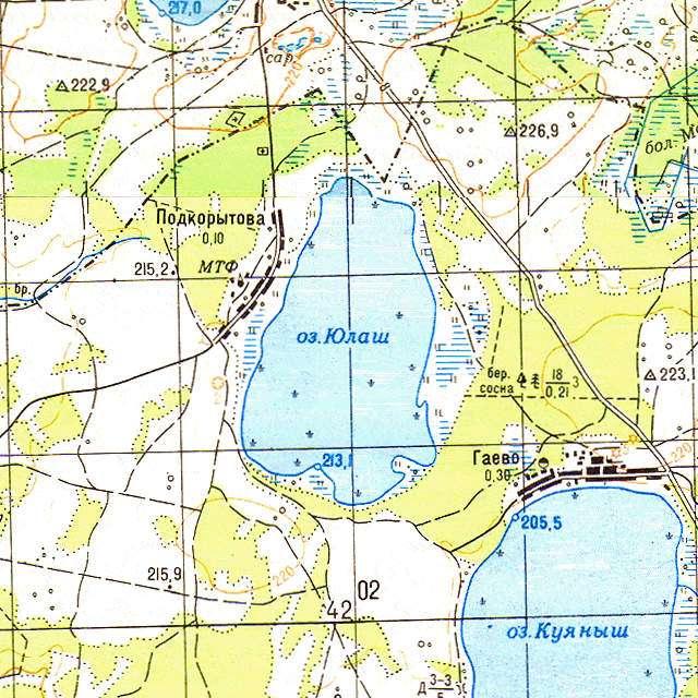 Юлаш- карта