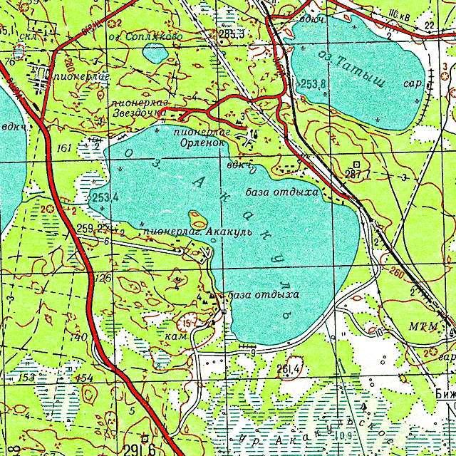Акакуль- карта