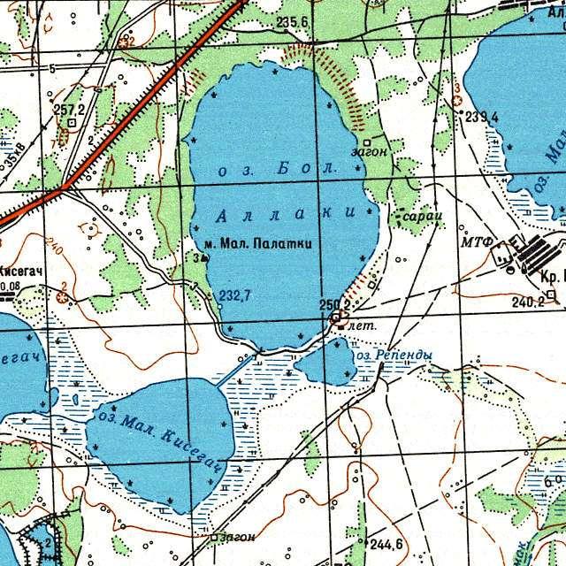 Большие Аллаки- карта