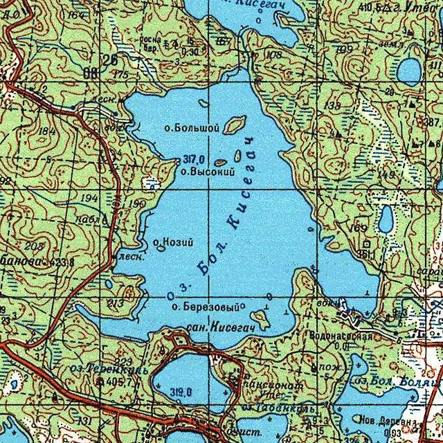 Большой Кисегач- карта