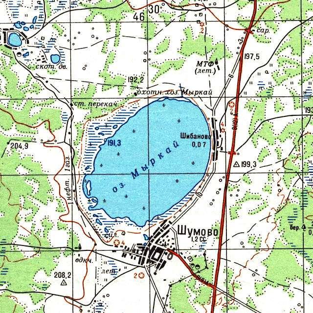 Мыркай- карта