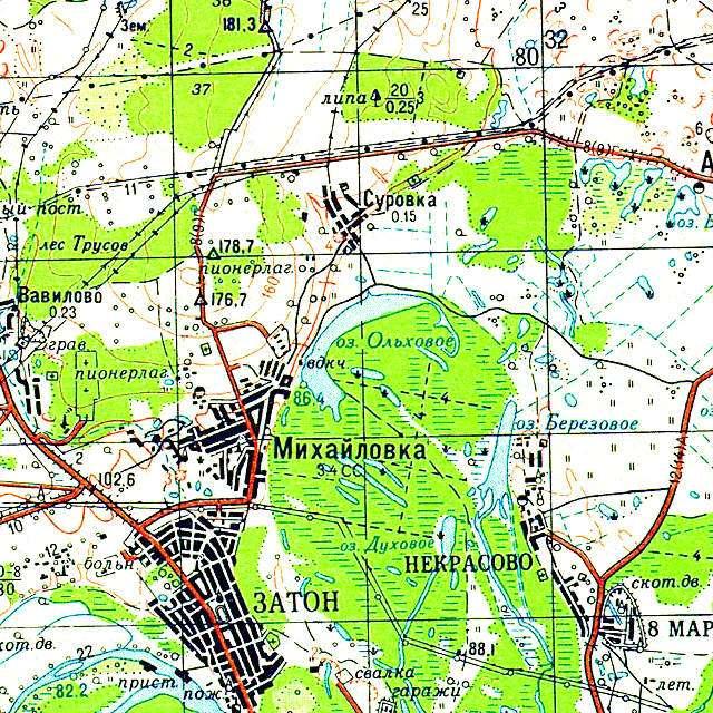Ольховое- карта