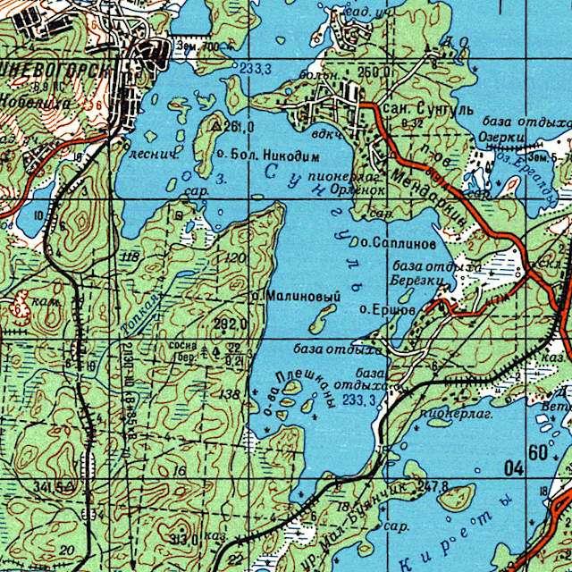 Сунгуль- карта