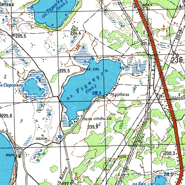 Узункуль- карта