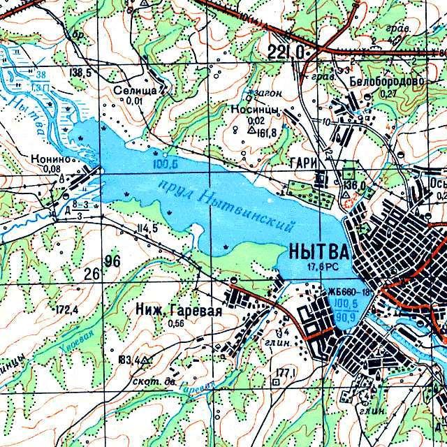 Нытвенский пруд- карта