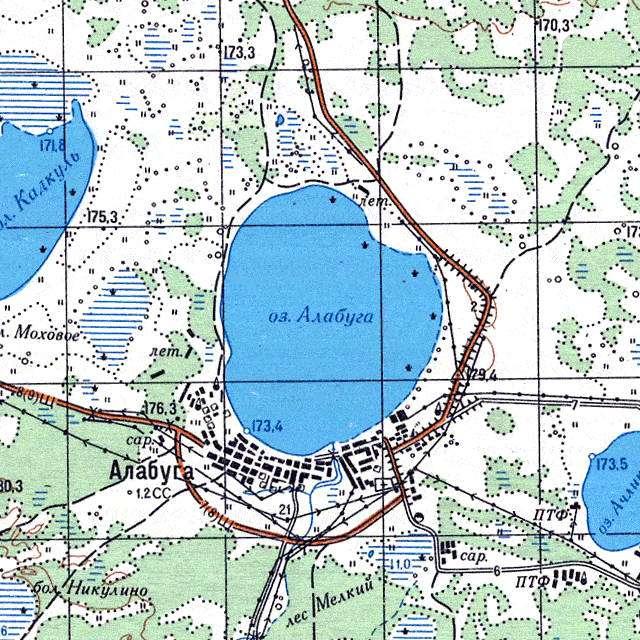 Алабуга- карта