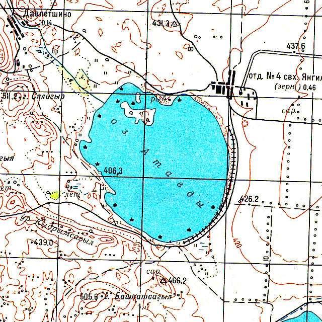 Атавды- карта