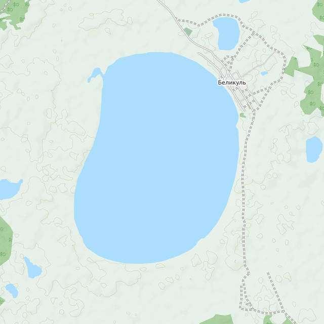 Беликуль- карта