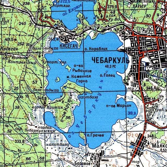 Чебаркуль- карта