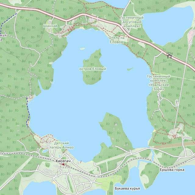Еловое- карта