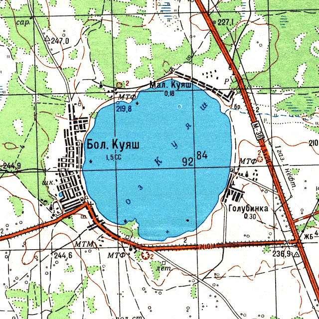 Куяш- карта