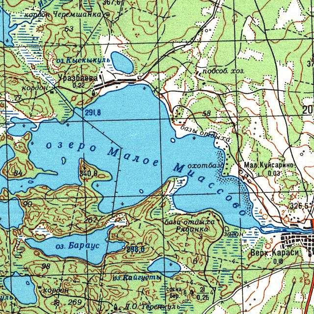 Малое Миассово- карта