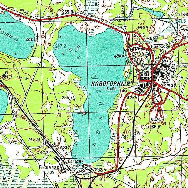 Улагач- карта