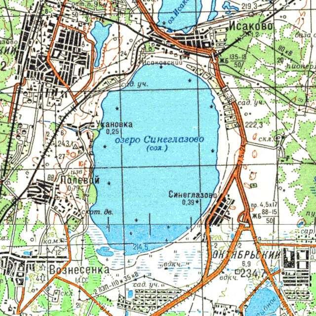 Синеглазово- карта