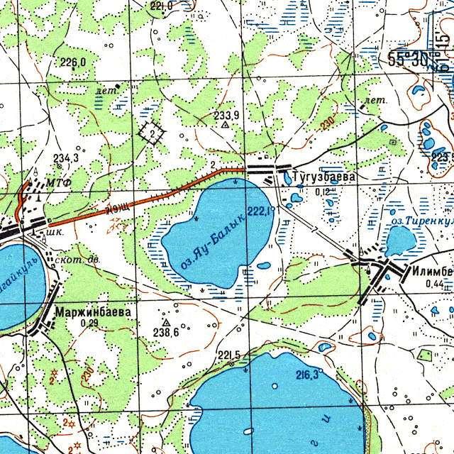 Яу-Балык- карта