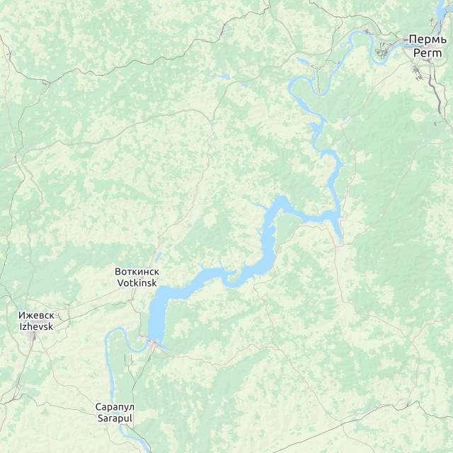 Воткинское водохранилище- карта
