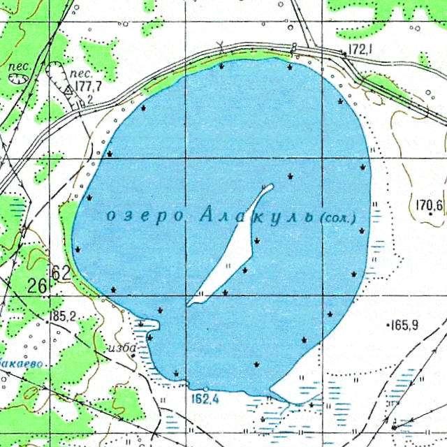 Алакуль- карта