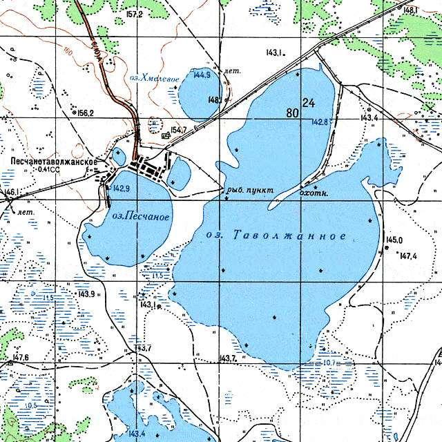 Таволжаное- карта
